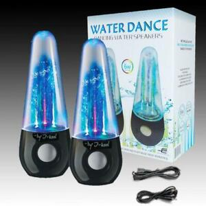 Bluetooth Water Dancing Speaker - Two Pieces - White - Discounted Price