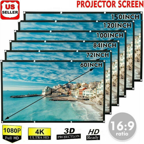 Portable Foldable Projector Screen 16:9 HD Outdoor Home Cinema Theater 3D Movie Consumer Electronics