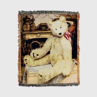 Gund Offizielles Teddybär Sammler Warmes Bequem Tapisserie Decke Überwurf 60