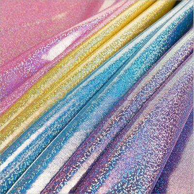 Glitter Hologramm Folie Stoff Party Hochzeit Hintergrund Dekor Material (Glitter Hochzeit Dekor)