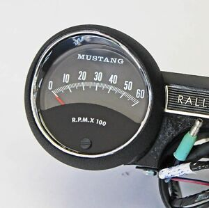 mustang rally pac parts accessories 1965 rally pac v8 6000 rpm black ford mustang new in the box mustang logo