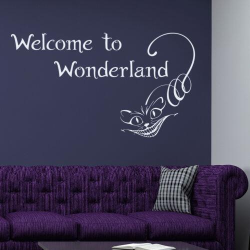 Quote Wall Decals Wonderland Decals Alice In Wonderland Vinyl Stickers FD101