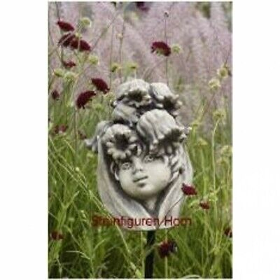 Flower Girl Head Lily of the Valley Casting Stone for Insert on a Pole 19-90032