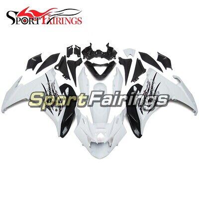 White Black Fairings for Yamaha FZ6R 2009 2010 fz6r 09 10 Body Kit ABS Bodywork