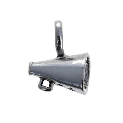 Megaphone Charm, Sterling Silver, Cheerleading, Cheer, Sports .925 Charms jewelr