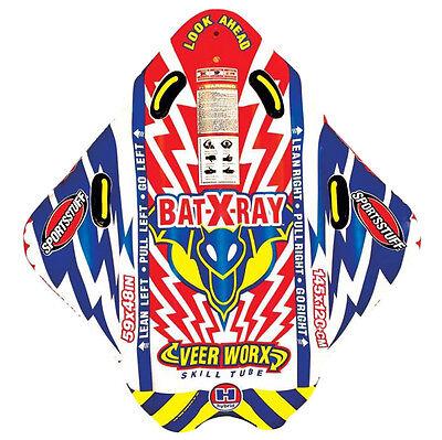 Airhead Sportsstuff Bat-X-Ray 1-Rider Veer Worx Skill Towable Tube   53-1510