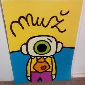 Muz [Man] by Maria Slovakova-Original Acrylic Painting-76 x 56 cms-unframed & unmounted.