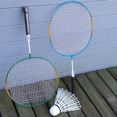 XXL Federball Badminton Set 2 Schläger Ball Tasche Feder FUN Sport Spiel 1 von 2