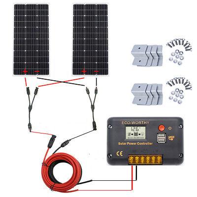 (ECO-WORTHY 200W Solar Panel System:2* 100W Mono Solar Panel + Accessories for RV)