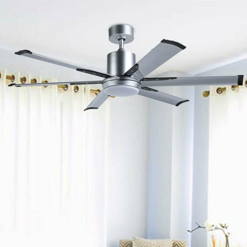52''Industrial Ceiling Fan with 6 Aluminum Fan Blades /White