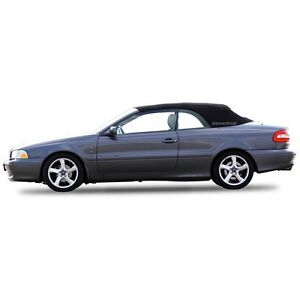 Volvo C70 Convertible Sof Top Replacement & Glass window 1999-06 Black Stayfast