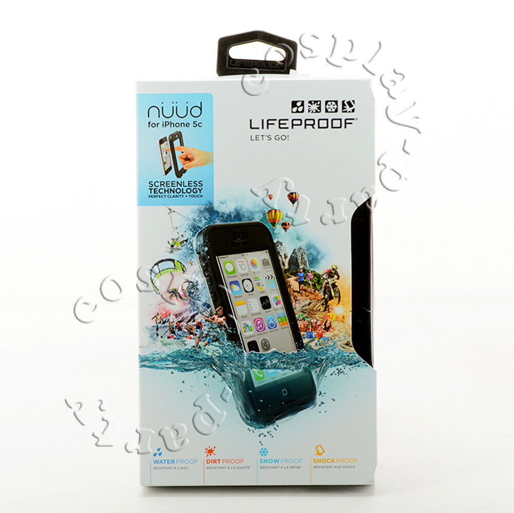 online store fd81d 4813f Details about LifeProof Nuud Waterproof Shockproof iPhone 5c Only Hard  Shell Case Black Clear