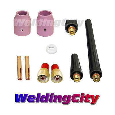Tig Welding Gas Lens Accessory Kit 18 For Torch 92025 T41 Us Seller