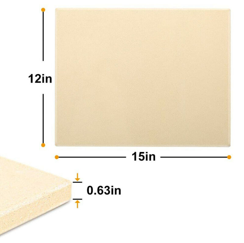 """15""""Pizza & Baking Stone 5/8"""" Thick For Oven/Grill/BBQ Pizza"""