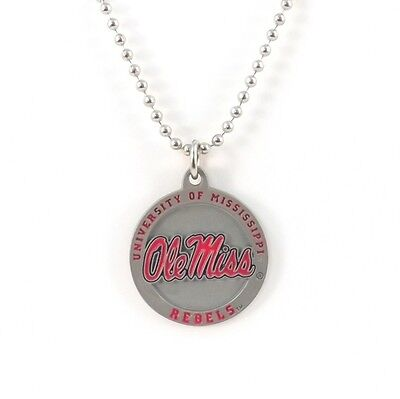OLE MISS REBELS LARGE PENDANT NECKLACE 24240 new college sports jewelry