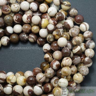 Natural Brown Zebra Jasper Gemstone Round Beads 4mm 6mm 8mm 10mm 12mm 14mm 16