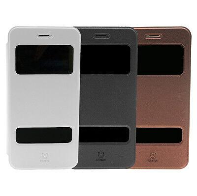 Baseus Flip Case für iPhone 6 Plus und 6s Plus Schutz Hülle Handy Tasche Bumper