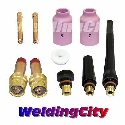 Tig Welding Gas Lens Accessory Kit 116 For Torch 171826 T13 Us Seller