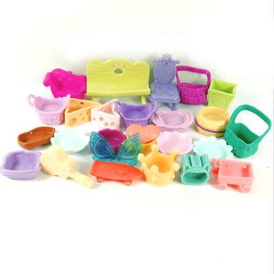 Lot 26pcs Littlest Pet Shop LPS Parts Accessories bag chair bathtub Bed - Littlest Pet Shop Plates