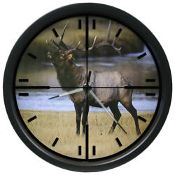 403-314B La Crosse Illuminations 14 Analog Wall Clock with Glowing Hands - Elk