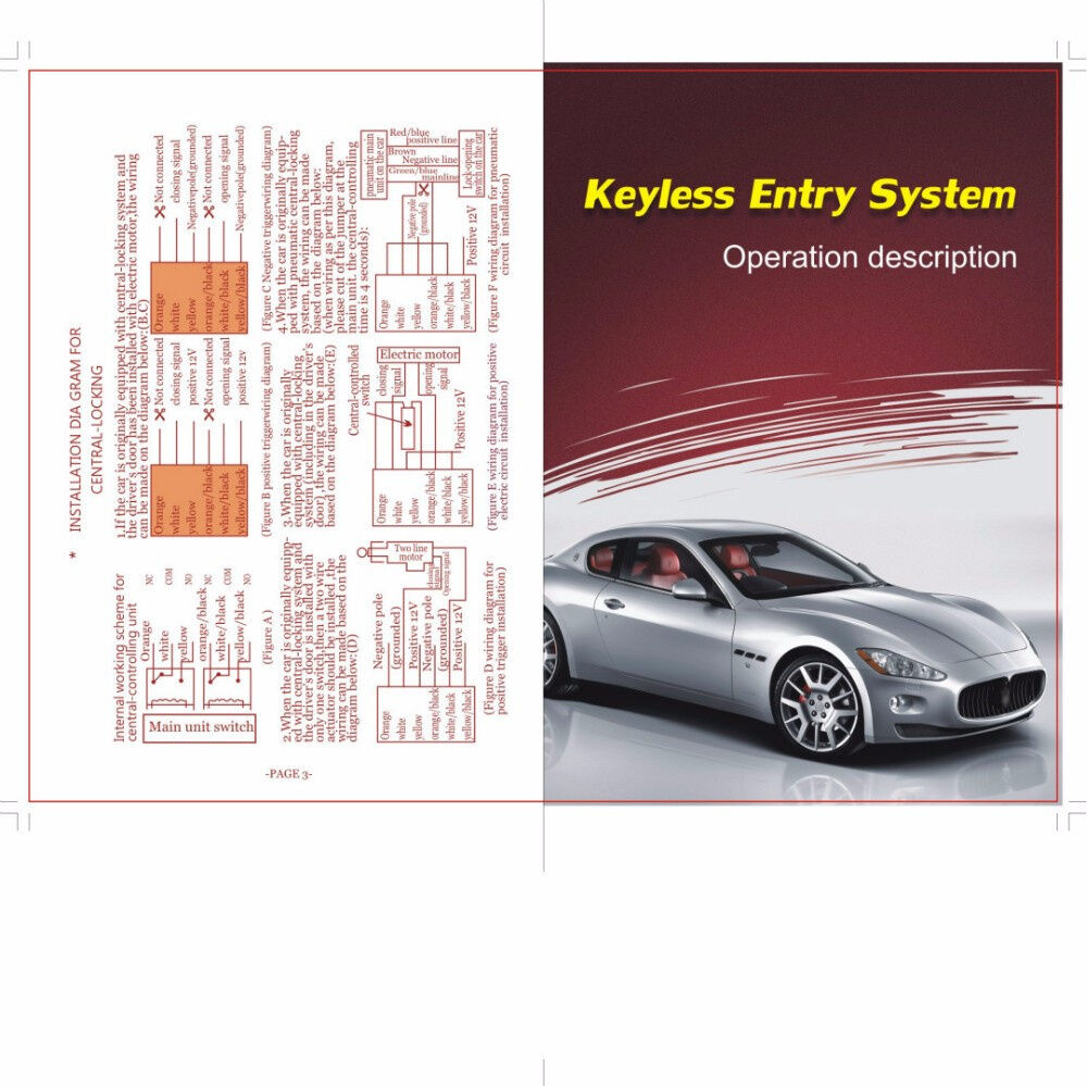 Car Auto Remote Central Kit Door Lock Locking Vehicle Keyless Entry Vectra B Wiring Diagram Detail