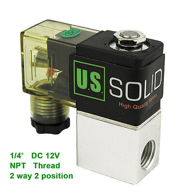 14 Npt 2 Way 2 Position Pneumatic Electric Solenoid Valve Dc 12v