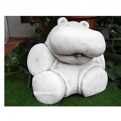 Gargoyle Hippo Hippopotamus Animal Stone Cast Garden Decoration New PO-116