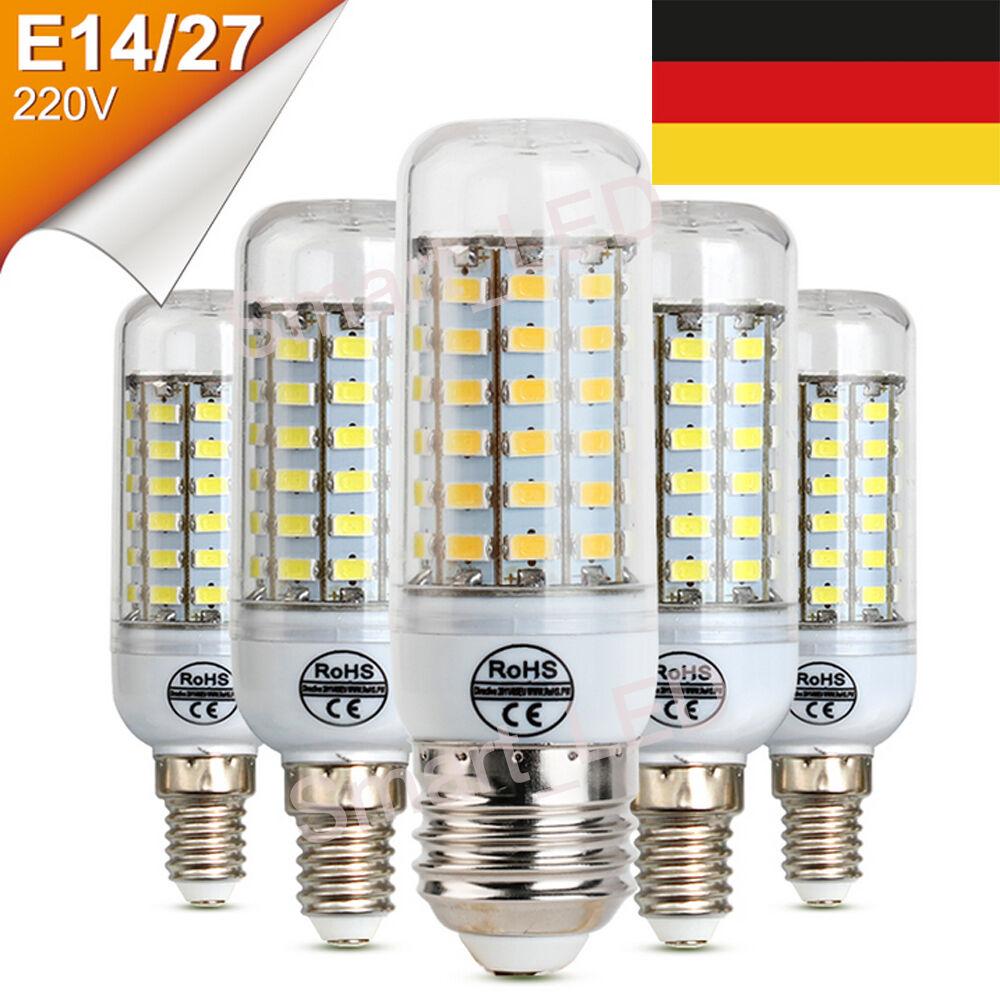 E14 E27 220V Energieeffiziente 2835 SMD LED Lampe Glühbirne Birne Lampe 5-15W E
