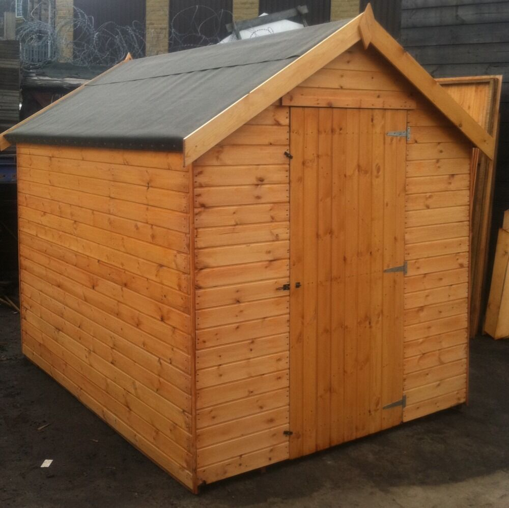 7x6 Garden Sheds New Tongue Groove 7ft X 6ft Garden Wooden Shed 7x6 Hut