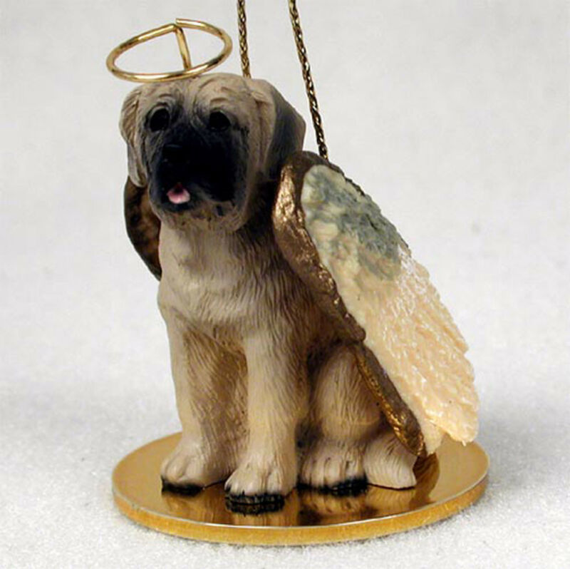 Mastiff Ornament Angel Figurine Hand Painted