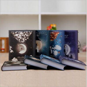 1pc Luxury Notebook with Lock Box Journal Diary Book Moonlight Notepad Gift QW