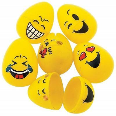 Emoji Plastic Easter Eggs - 48 Pieces - Emoticon Egg Hunt and Easter Basket Eggs](Easter Egg Baskets)