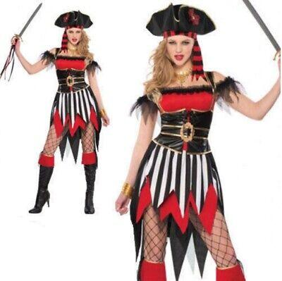 Damen Shipwreck Piraten Kostüm Erwachsene Party Kostüm Outfit 10-12 (Damen Piraten Outfits)