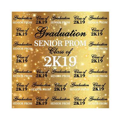 6x6ft Backdrop Graduation SENIOR PROM 2019 Studio Photography Props Background - Prom Background
