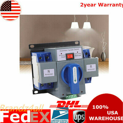 2p 63a Dual Power Automatic Transfer Switch Cb Level For Generator 5060hz 110v