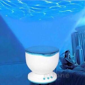 Led Night Light Projector Ocean Daren Waves Projector Lamp With Speaker