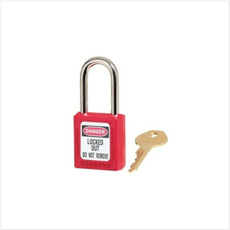 (NEW) Master Lock 410RED 410 Safety Lockout Padlock Red