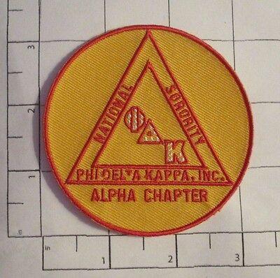 Phi Delta Kappa Patch - Alpha Chapter - National Sorority  Alpha Phi Delta