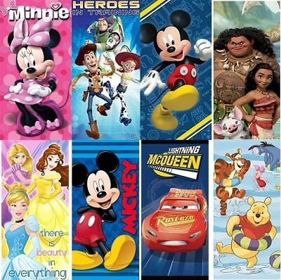 (Disney Pixar Cars/Mickey/Minnie/Princess/Spiderman 100% Cotton Beach/Bath Towel)