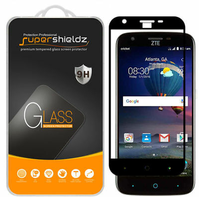 2X Supershieldz ZTE Grand X3 Gorged Cover Tempered Glass Screen Protector (Black)