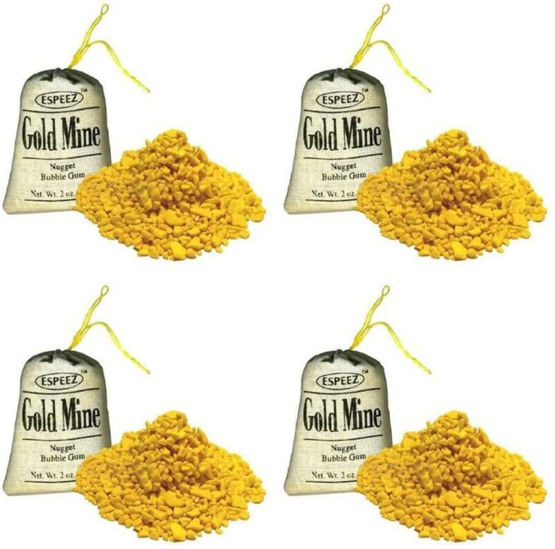 4 EACH Gold Mine® BUBBLE GUM - 2 OZ BAGS FREE SHIPPING