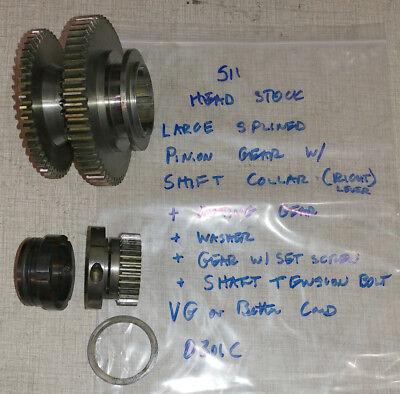 Emco Maximat Super 11 Lathe Headstock Parts Front Axle Gears Etc. 0301c