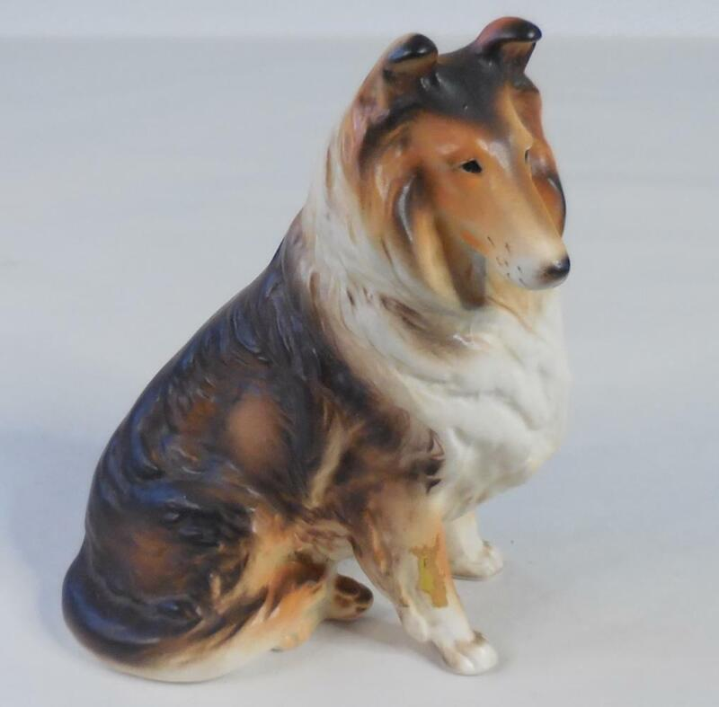 ARNART 5th Avenue Vintage Ceramic Dog Collie Figurine, Japan - No Chips!