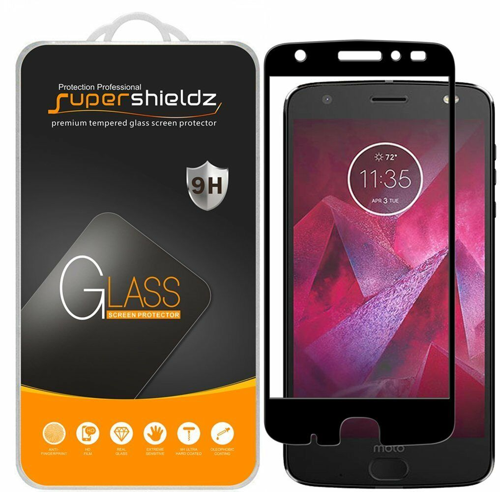 2X Supershieldz for Moto Z2 Force Full Cover Tempered Glass