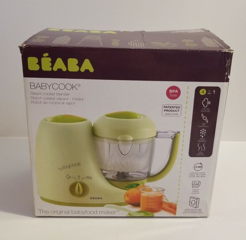 Beaba Babycook Original 4 in 1 Baby Food Steam Cooker Blender Defroster Reheat