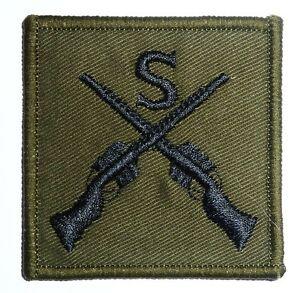 GENUINE-MILITARY-SNIPER-CLOTH-BADGE-sew-on-olive-jacket-patch-GB-army-surplus