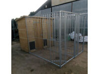 Double Burley dog kennel and run