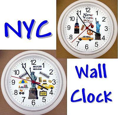 NEW YORK CITY WALL CLOCK Big Apple Bronx Brooklyn Staten Island Queens NYC (Big Island Queens)
