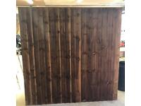 ❄️ Straight Top Pressure Treated High Quality Brown Wooden Garden Fence Panels