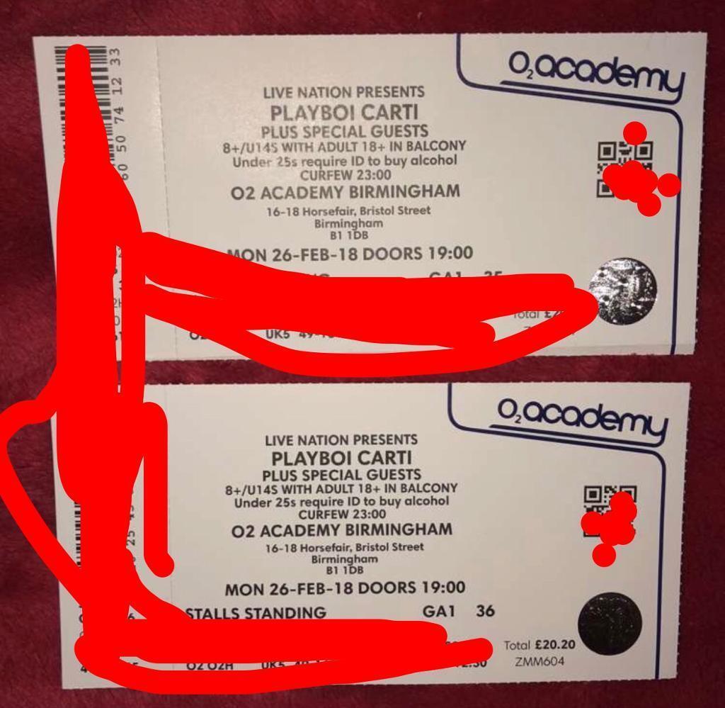 08072ea31233f8 Playboi Carti tickets Birmingham